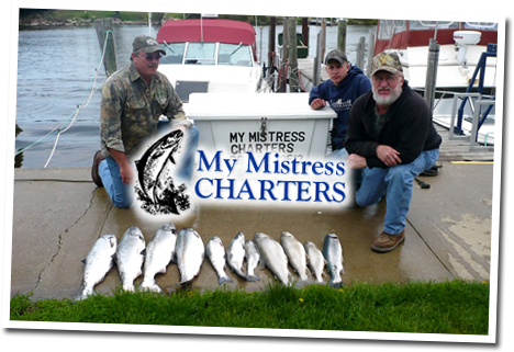 Salmon, Steelhead, Brown Trout and Lake Trout Fishing Charters on Lake Michigan